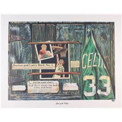 Larry Bird Signed LE Celtics 22x28 Lithograph (Schwartz COA)