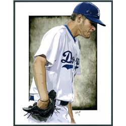 Clayton Kershaw Dodgers Limited Edition 11x14 Signed Art Print by Jeff Lang (Artist Proof #2/3)
