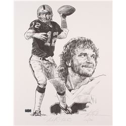"Ken Stabler Signed Raiders Limited Edition 16"" x 20"" Lithograph #425/500 (Stabler LOA)"