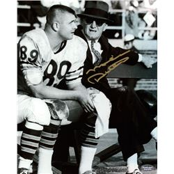 Mike Ditka Signed Bears 8x10 Photo with George Halas (Schwartz COA)