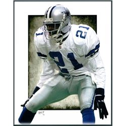 Deion Sanders Cowboys Limited Edition 11x14 Signed Art Print by Jeff Lang (Artist Proof #2/3)