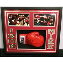 Mike Tyson Signed 21x25x4 Custom Framed Shadowbox Boxing Glove Display (JSA)