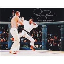 "Royce Gracie Signed 11x14 UFC Photo Inscribed ""UFC #1 Champ"" (PA COA)"
