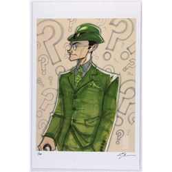"""Riddler"" Batman Villain Series Signed Limited Edition 11x17 Lithograph by Tom Hodges #4/20"
