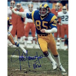 "Jack Youngblood Signed Rams 8x10 Photo Inscribed ""HOF 01"" (Schwartz COA)"