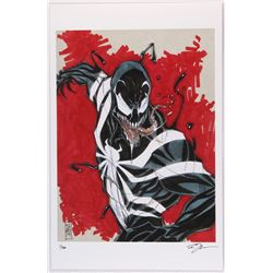 Venom  Spider-Man Villain Series Signed Limited Edition 11x17 Lithograph by Tom Hodges #3/20