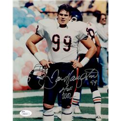 Dan Hampton Signed Bears 8x10 Photo Inscribed  HOF 2002  (JSA COA)