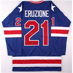 "Mike Eruzione Signed 1980 Team USA ""Miracle on Ice"" Jersey (Leaf COA)"