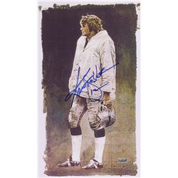 Ken Stabler Signed Raiders  Day at the Office  10.75  x 18.5  Lithograph (Stabler LOA)