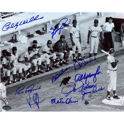 1969 Cubs Black Cat 8x10 Photo Team Signed by (10) with Billy Williams, Fergie Jenkins, Glenn Becker