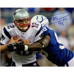 Robert Mathis Signed Colts 8x10 Photo vs. Tom Brady (Schwartz COA)