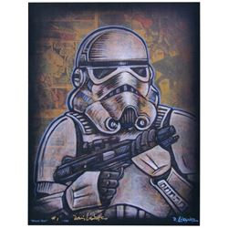 "David Lizanetz Signed ""Storm Trooper"" Star Wars Limited Edition ""Blast 'Em"" 11"" x 14"" Comic Art Prin"