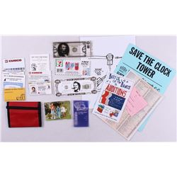 Lot of (21) Back to the Future Replica Movie Props with Wallet, Drivers License, News papers, 'Futur
