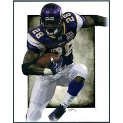 Adrian Peterson Vikings Limited Edition 11x14 Signed Art Print by Jeff Lang (Artist Proof #2/3)