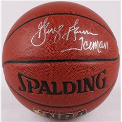 "George Gervin Signed Basketball Inscribed ""Iceman"" (Schwartz COA)"