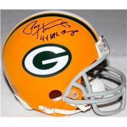 "Paul Hornung Signed Packers Mini-Helmet Inscribed ""4x NFL Champs"" (Schwartz COA)"