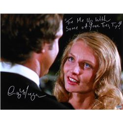 "Cindy Morgan Signed ""Caddyshack"" 11x14 Photo Inscribed ""Tie Me Up With Some Of Your Ties, Ty?"" (Schw"