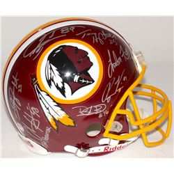 Redskins Full-Size Authentic Proline Helmet Signed by (9) with Ricky Sanders, Mark Mosley, Tim Hight