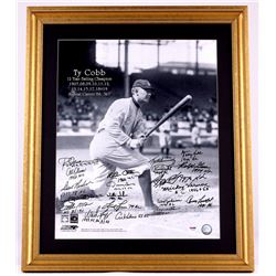 All-Time Batting Champions Multi-Signed 22x26 Custom Framed Photo Display with (20) Signatures inclu