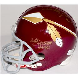 "Larry Brown, Charley Taylor, & Bobby Mitchell Signed Redskins Full-Size Helmet Inscribed ""HOF 83"" &"
