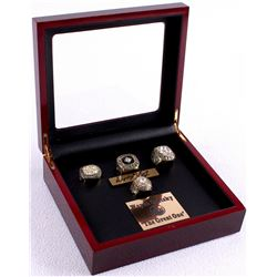 Wayne Gretzky Oilers Set of (4) High Quality Replica 1984 Stanley Cup Championship Rings with Displa