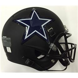 Dallas Cowboys Custom Matte Black Full-Size Authentic Proline Helmet