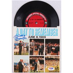 "Mickey Mantle Signed 1969 ""A Day To Remember"" 7x7 Record Album (PSA LOA)"