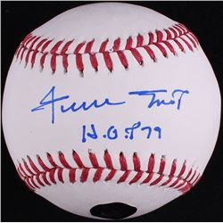 "Willie Mays Signed OML Baseball Inscribed ""HOF 79"" (Mays Hologram)"