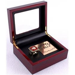 Muhammad Ali Replica Ring with High Quality Cherry Wood Custom Display Box