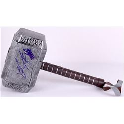 Stan Lee & Chris Hemsworth Signed Thor Full-Size Hammer Movie Prop Replica (PSA LOA & Lee Hologram)
