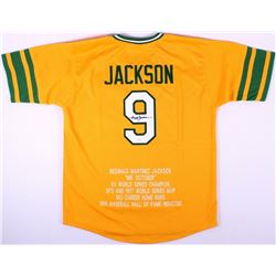 Reggie Jackson Signed Athletics Career Highlight Stat Jersey (JSA COA)