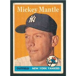 Mickey Mantle 1958 Topps #150