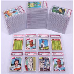 Lot of (95) PSA Graded (9) 1980 Topps Baseball Cards with (2) #475 Cesar Geronimo, #30 Vida Blue, #4