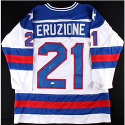 "Mike Eruzione Signed 1980 Team USA ""Miracle on Ice"" Jersey (JSA)"
