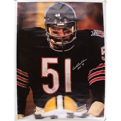 "Dick Butkus Signed Bears 34x44 Photo on Canvas Inscribed ""HOF 79"" (JSA COA)"