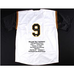 Bill Mazeroski Signed Pirates Career Highlight Stat Jersey (JSA Hologram)