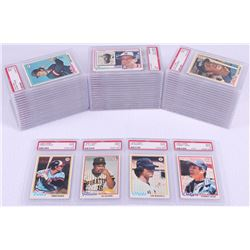 Lot of (56) PSA Graded (9) 1978 Topps Baseball Cards with #147 Lee Mazzilli, #375 Tommy John, #137 C
