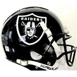Oakland Raiders Custom Full-Size Authentic Proline Helmet