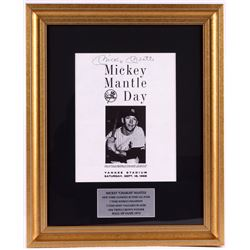 Mickey Mantle Signed Yankees 16x19 Custom Framed Photo Display (JSA LOA)
