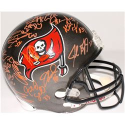 Team-Signed 2006 Tampa Bay Buccaneers Full-Size Helmet with (26) Signatures Including Luke McCown, E