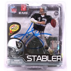 Ken Stabler Signed Raiders 2012 McFarlane NFL Series 29 Action Figure (Stabler LOA)