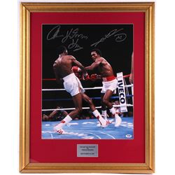 Sugar Ray Leonard & Thomas Hearns Signed 23x29 Custom Framed Photo Display (PSA COA)