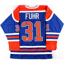 Grant Fuhr Signed Oilers Jersey (JSA COA)