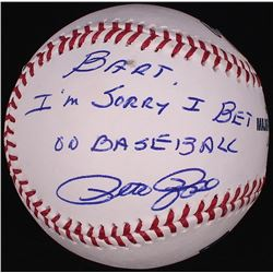 "Pete Rose Signed OML Baseball Inscribed ""Bart I'm Sorry I Bet On Baseball"" (PSA COA)"