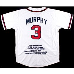 Dale Murphy Signed Braves Career Highlight Stat Jersey (JSA)