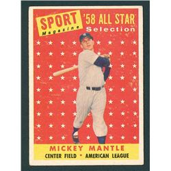 Mickey Mantle 1958 Topps #487 All-Star