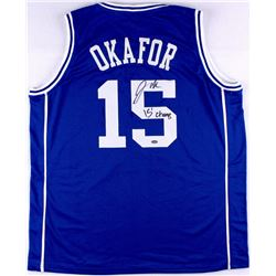 "Jahlil Okafor Signed Duke Jersey Inscribed ""15 Champs"" (Schwartz COA)"