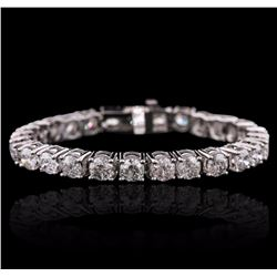 14KT White Gold 16.39 ctw Diamond Tennis Bracelet
