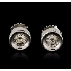 14KT White Gold 0.80 ctw Diamond Stud Earrings