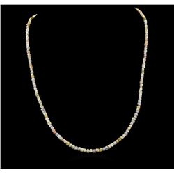 14KT White Gold 33.56 ctw Rough Diamond Necklace
